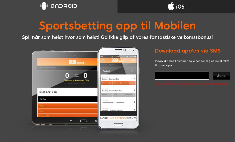 Download 888sport appen til din mobil