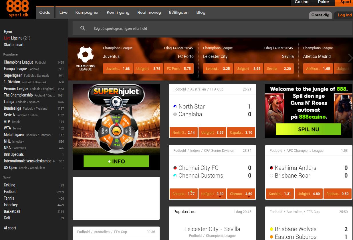 Besøg 888sport's hjemmeside
