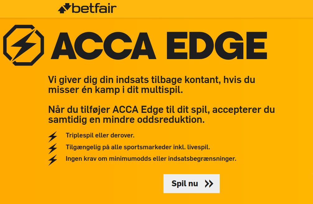 Prøv Acca Edge hos Betfair