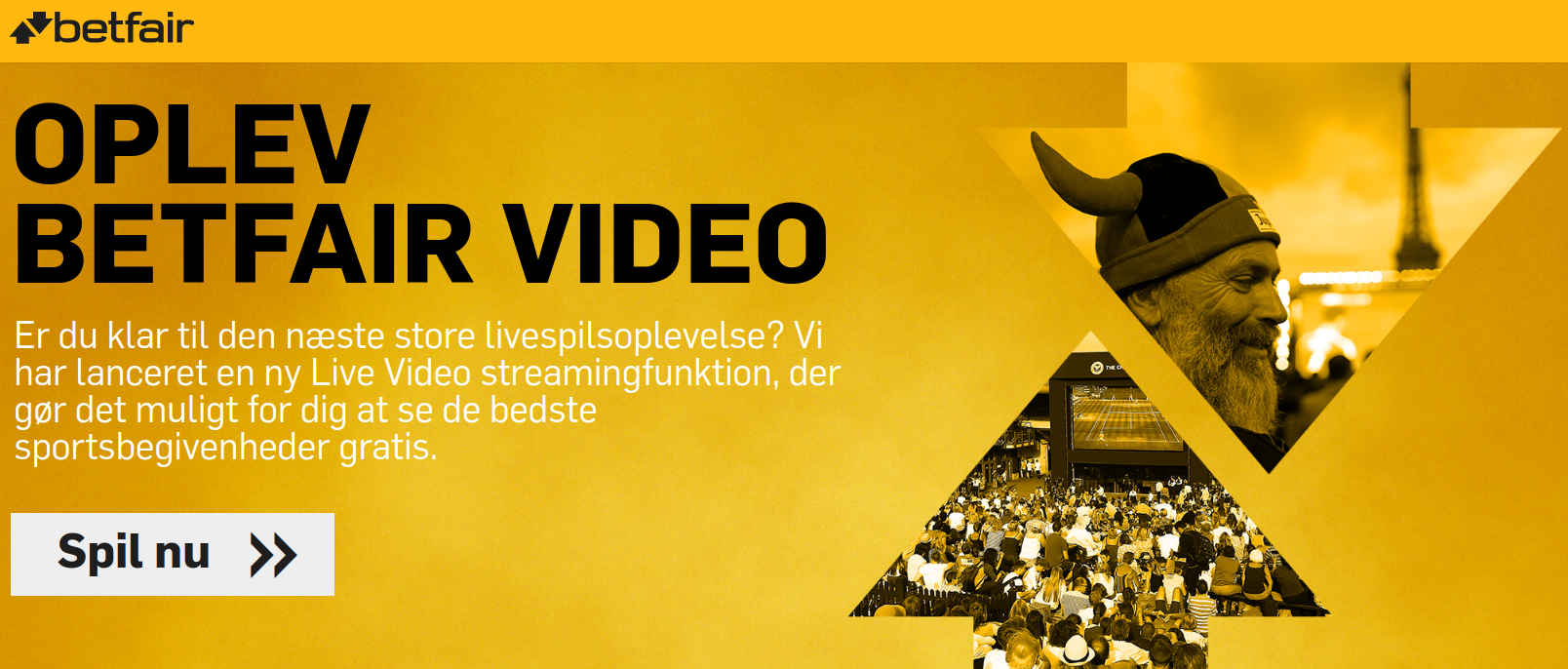 Live streaming hos Betfair
