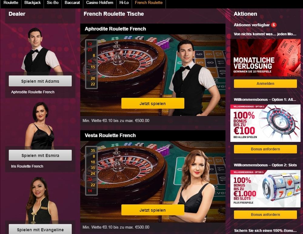Betfair Live-Casino