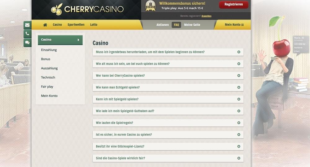 Cherry Casino FAQ