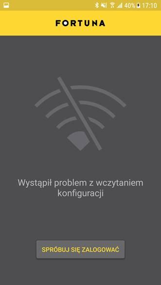 Fortuna - aplikacja Android nie działa!