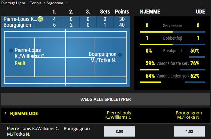 Jetbull live betting på tennis