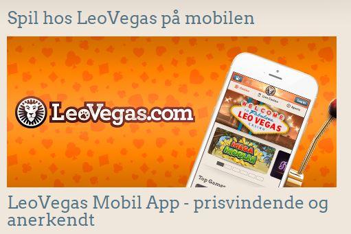 Spil på farten med LeoVegas mobil