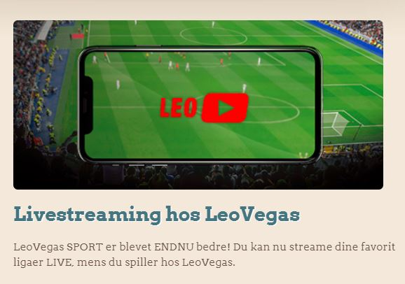 Se gratis sport med LeoVegas live streaming