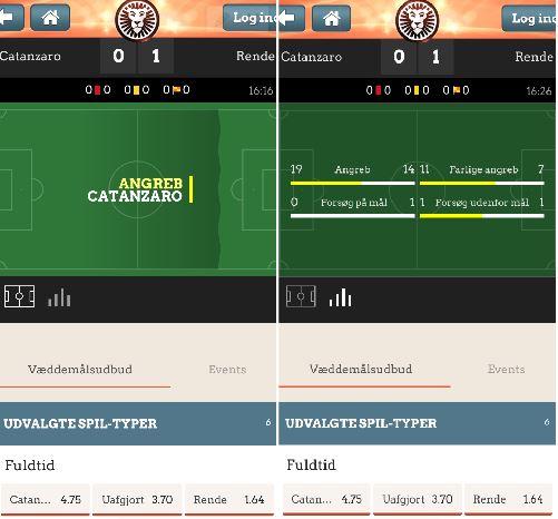Live betting via LeoVegas mobil