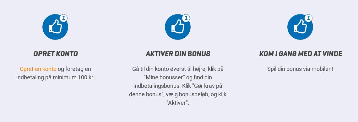 Aktivér din NordicBet velkomstbonus