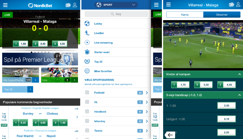 Prøv NordicBet mobil appen
