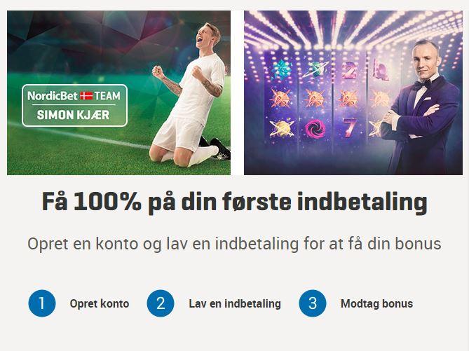 Få din NordicBet oprettelsesbonus