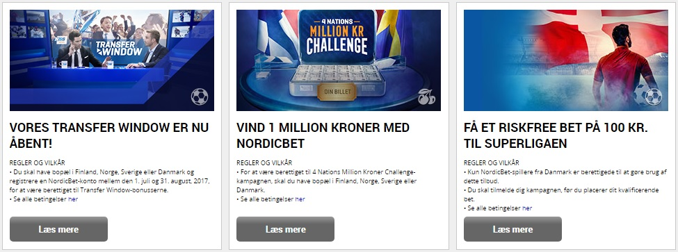 NordicBet Kampagner