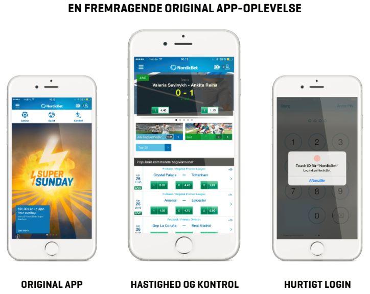 Download NordicBet mobil til din smartphone