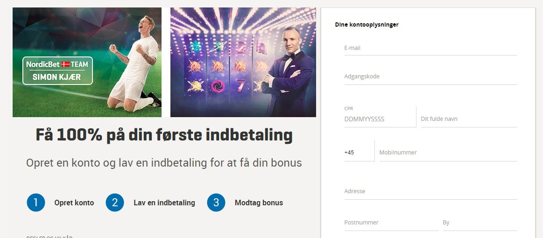 NordicBet Oprettelse