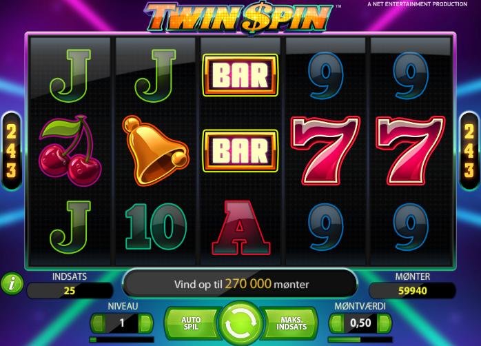 Twin Spins - Rød25 spilleautomat