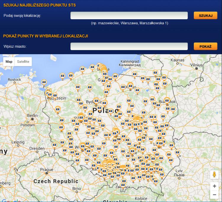 Punkty STS w Polsce