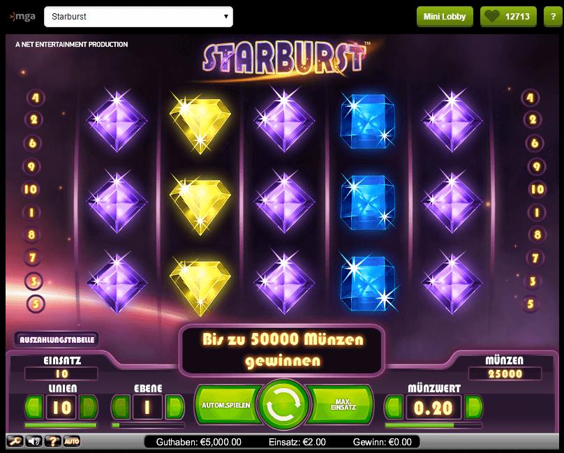 Staburst ComeOn Casino