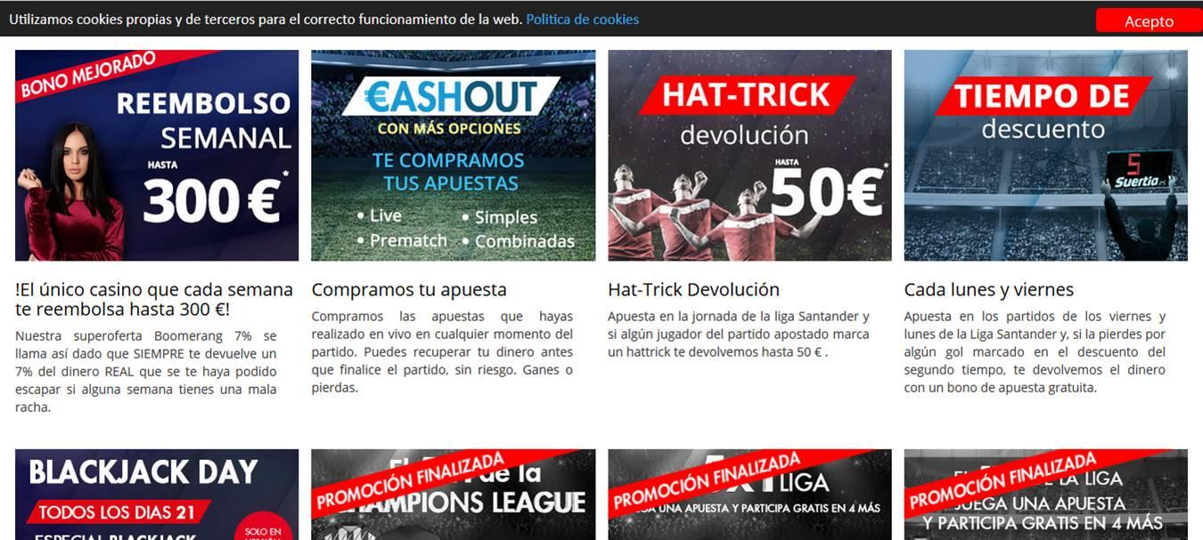 Otras promociones de Suertia - Reseña de bettingexpert