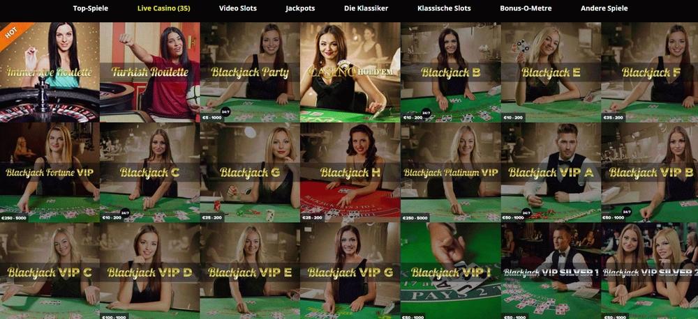 Thrills Casino Live-Casino (Screenshot)