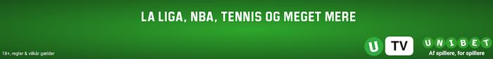 Se direkte sport med Unibet live streaming