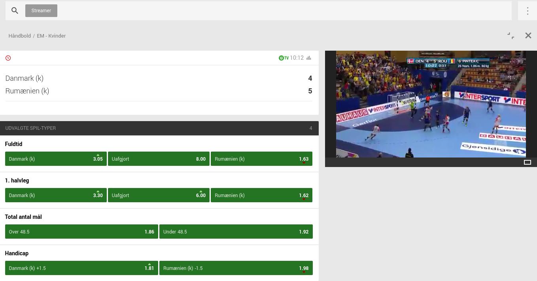 Se håndbold med Unibet live streaming