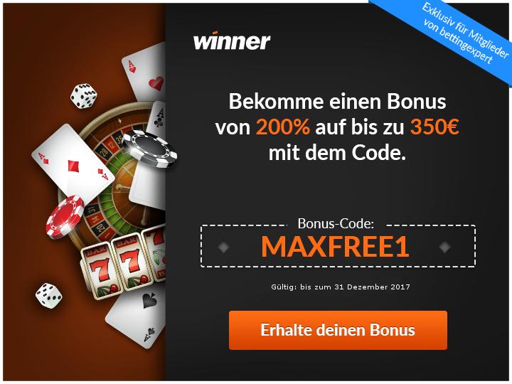 Gratis Bonus ohne Einzahlung - Winner Casino