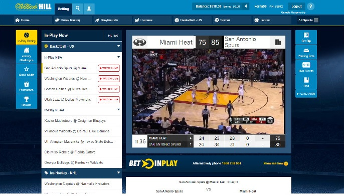 William Hill live streaming