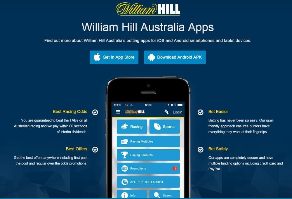 William Hill mobile app