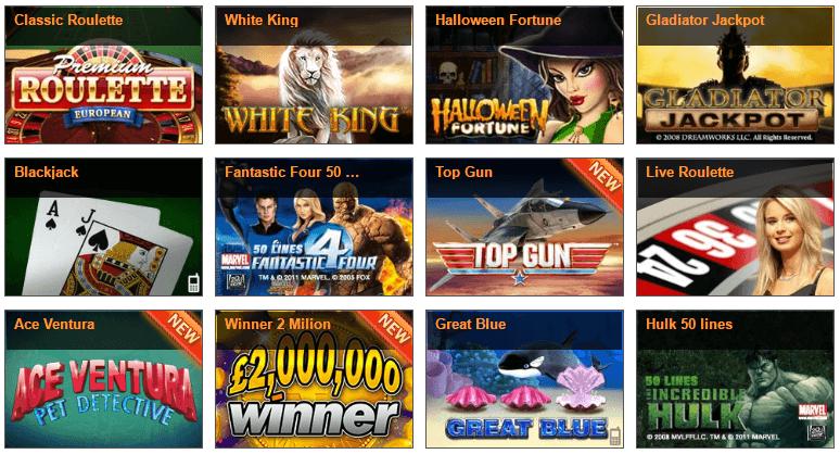 Spieleauswahl im Winner Casino
