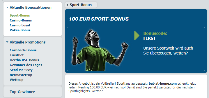 bet-at-home Anmeldebonus