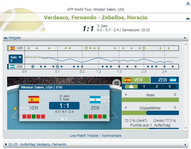 bet-at-home Live Tennis