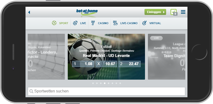 bet-at-home Mobile Ansicht