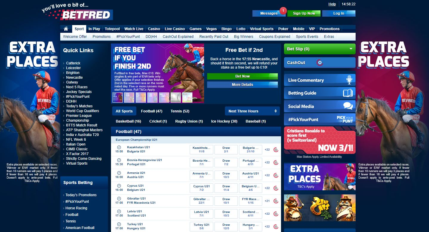 betfred membership