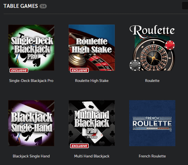 Table Games at Betsafe Casino