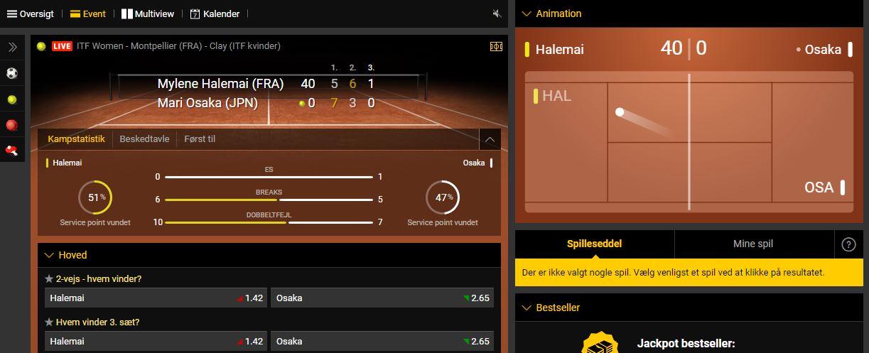 bwin live betting på tennis