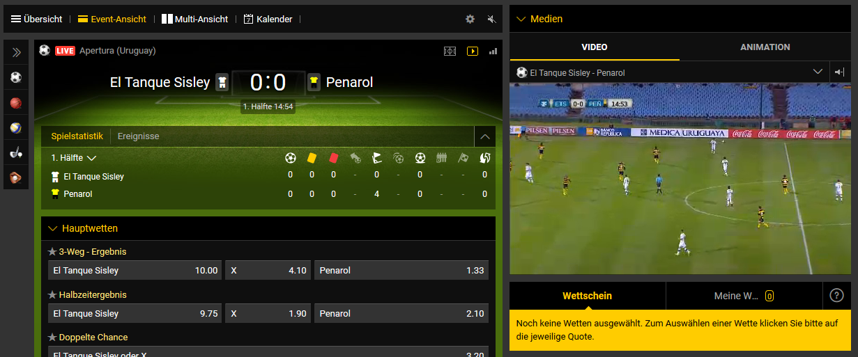 bwin Live Streaming Beispiel