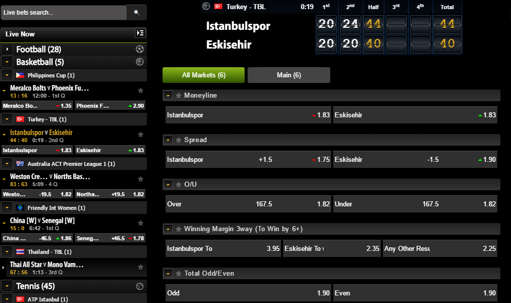 comeon inplay nba