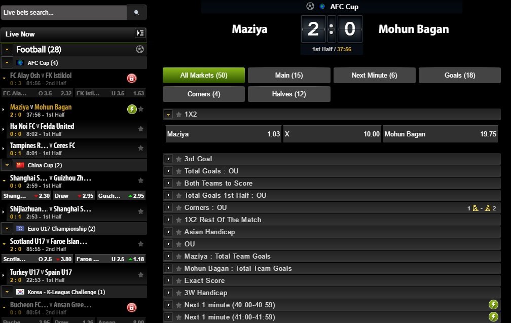 comeon inplay football