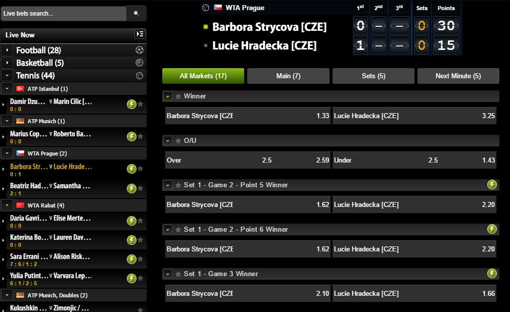 comeon inplay tennis