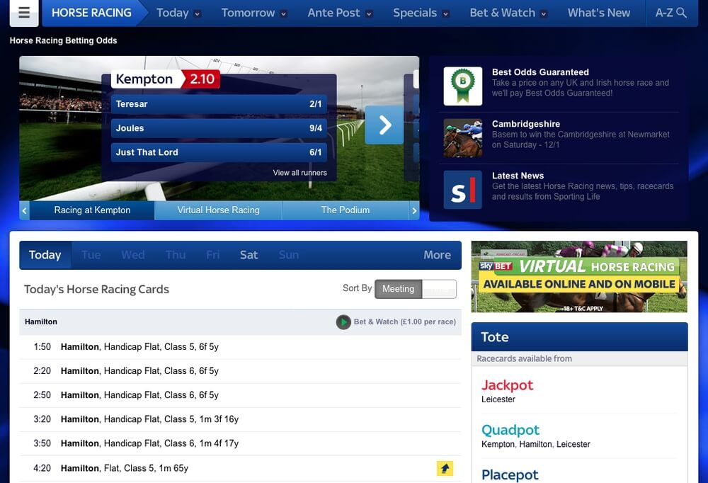 Skybet Horse Racing Betting