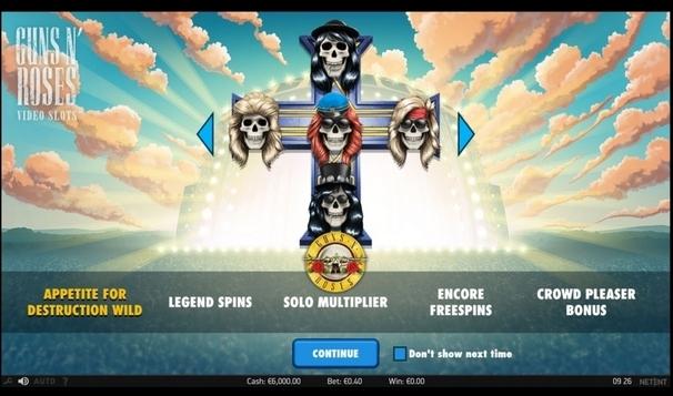 Guns n' Roses slot on Matchbook Casino