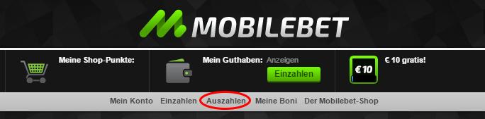 Mobilebet Auszahlung Webseite