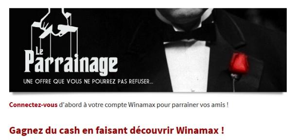 Winamax parrainage