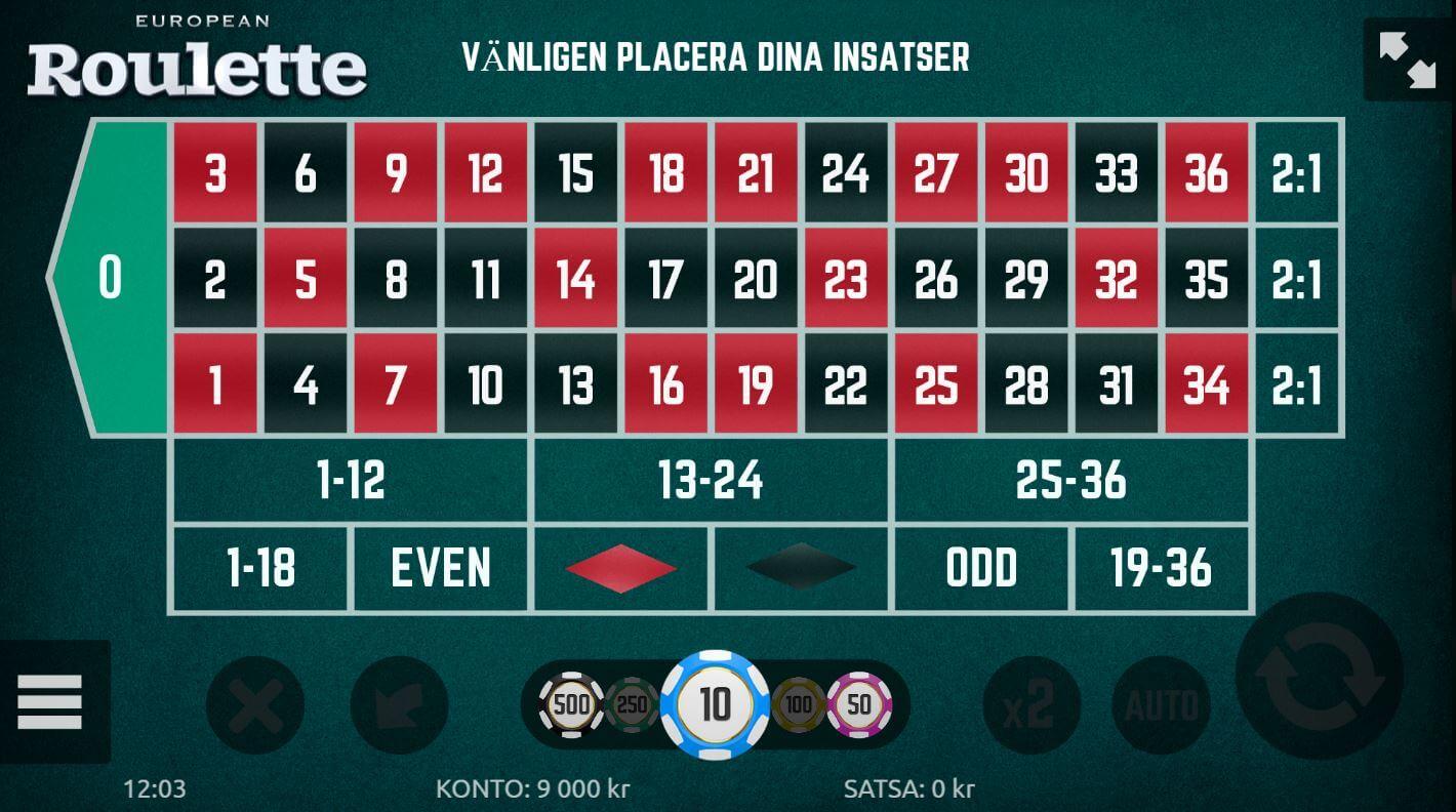 Roulette system online hos LeoVegas