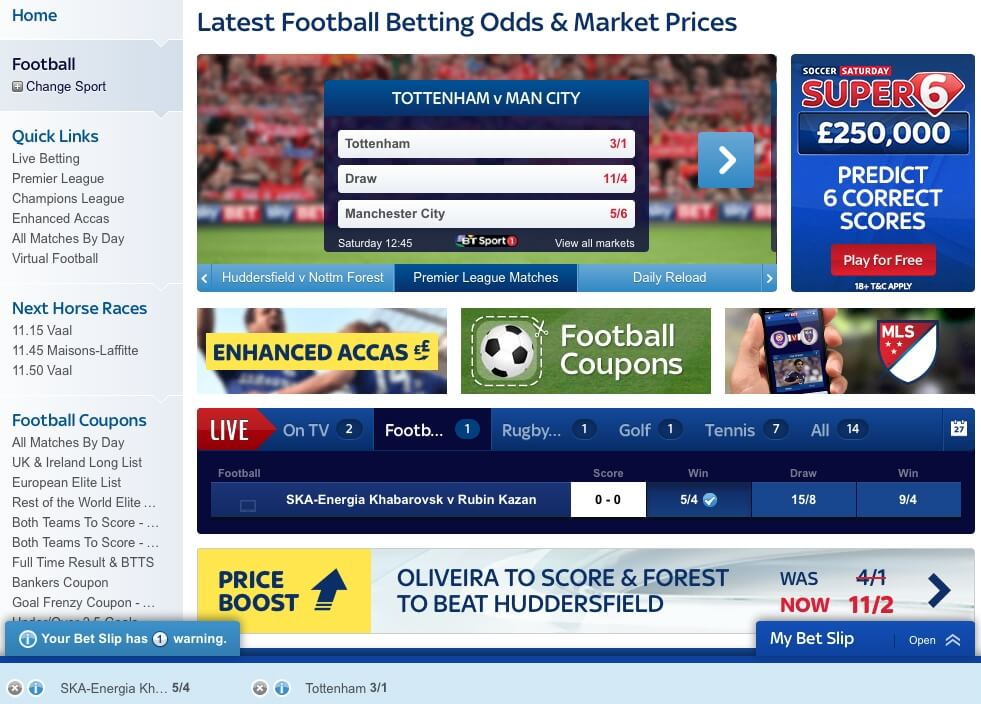 Football Betting at Skybet