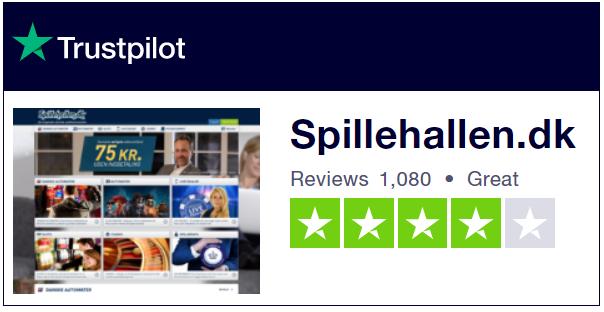 Spillehallen Trustpilot anmeldelser
