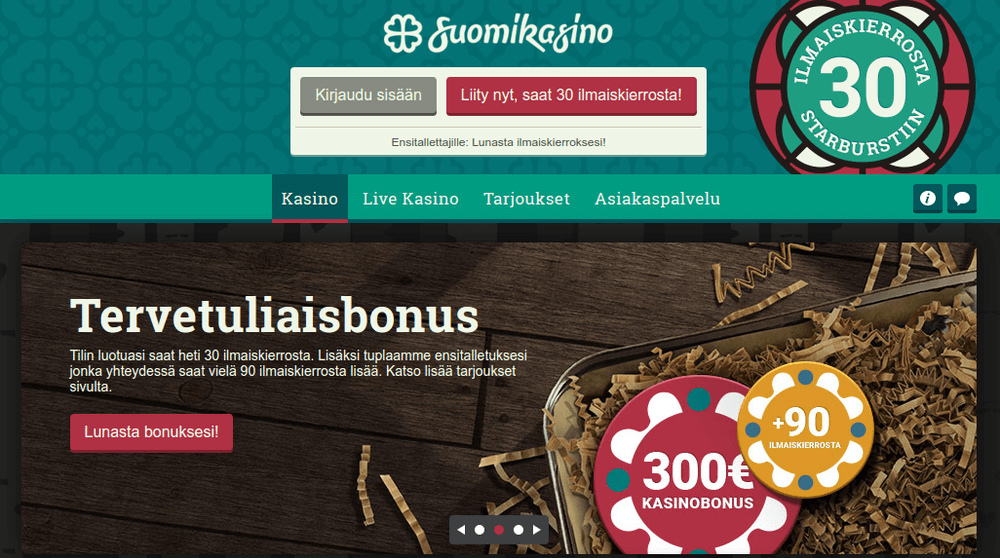 Suomikasino bonus