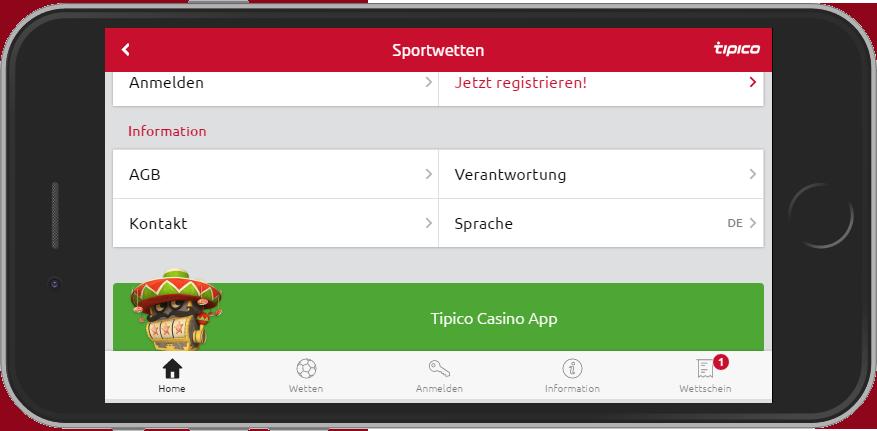 Tipico App Footer