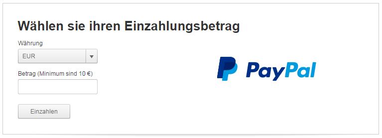 Tipico Registrierung mit PayPal