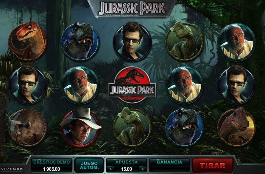 Tragaperras Jurassic park en Interwetten Casino