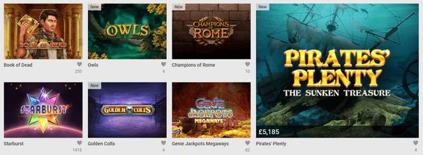 Unibet Casino Slot Games Selection